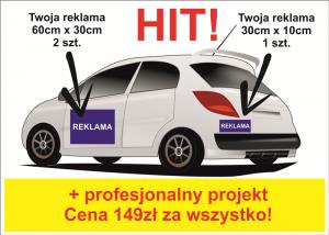 Magnes na samochód - Reklama magnetyczna na auto - Projekt