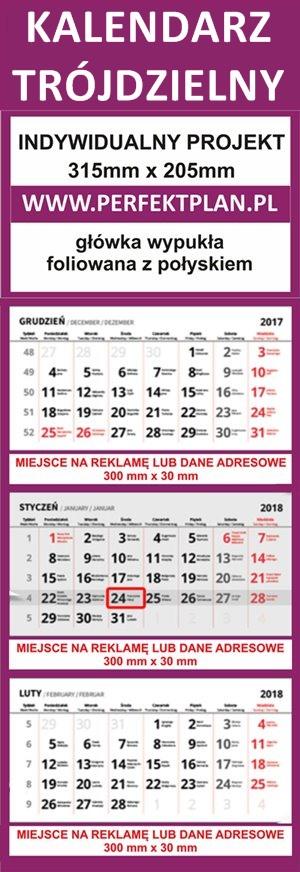 Kalendarz trójdzielny 2021