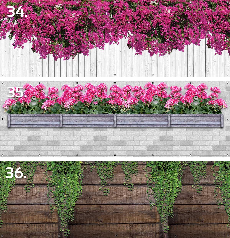 Osłony balkonowe kwiaty